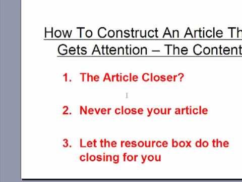 How To Write An SEO Article