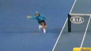 Incredible Ball Boy Catch at Australian Open 2012