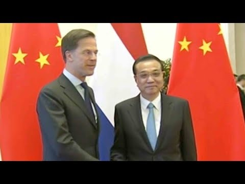 Chinese Premier Li Keqiang meets with Dutch PM in Beijing
