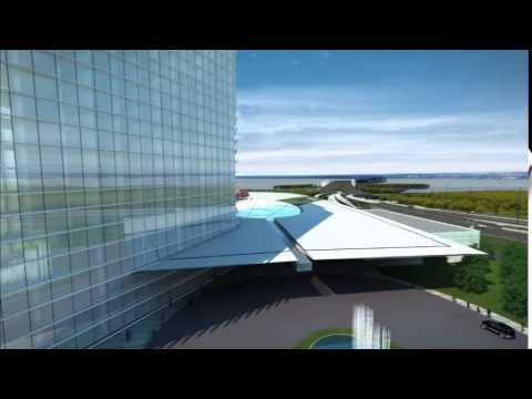 MGM National Harbor casino's digital flyover video