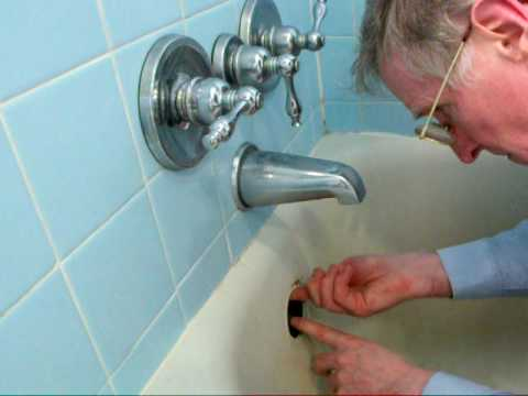 Fixing The Tub Overflow Gasket   YouTube