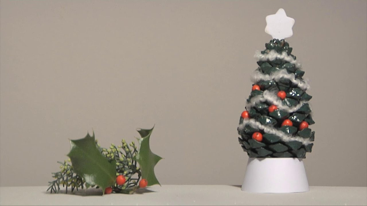 Noel d co christmas decoration sapin pomme de pin diy youtube - Deco sapin de noel ...