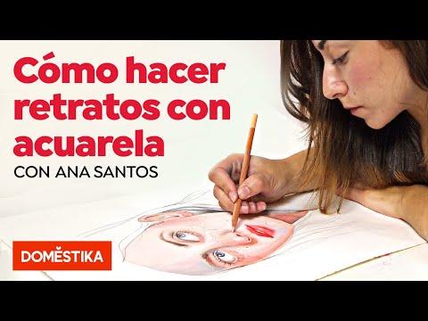 Retrato Ilustrado En Acuarela - Curso Online De Ana Santos - Domestika