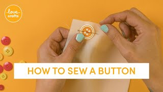 How to sew a button (EASY BEGINNER'S TUTORIAL)