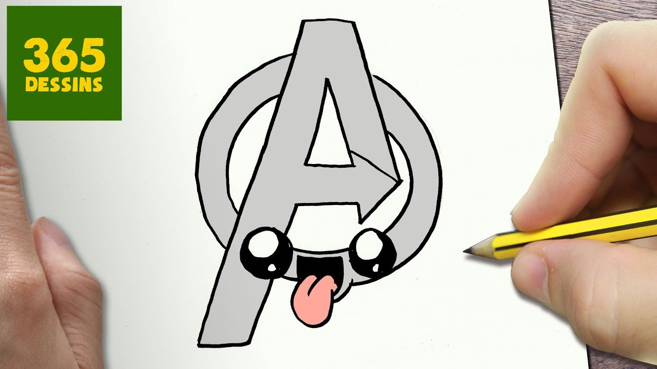 Comment Dessiner Logo Avengers Kawaii étape Par étape Dessins Kawaii Facile