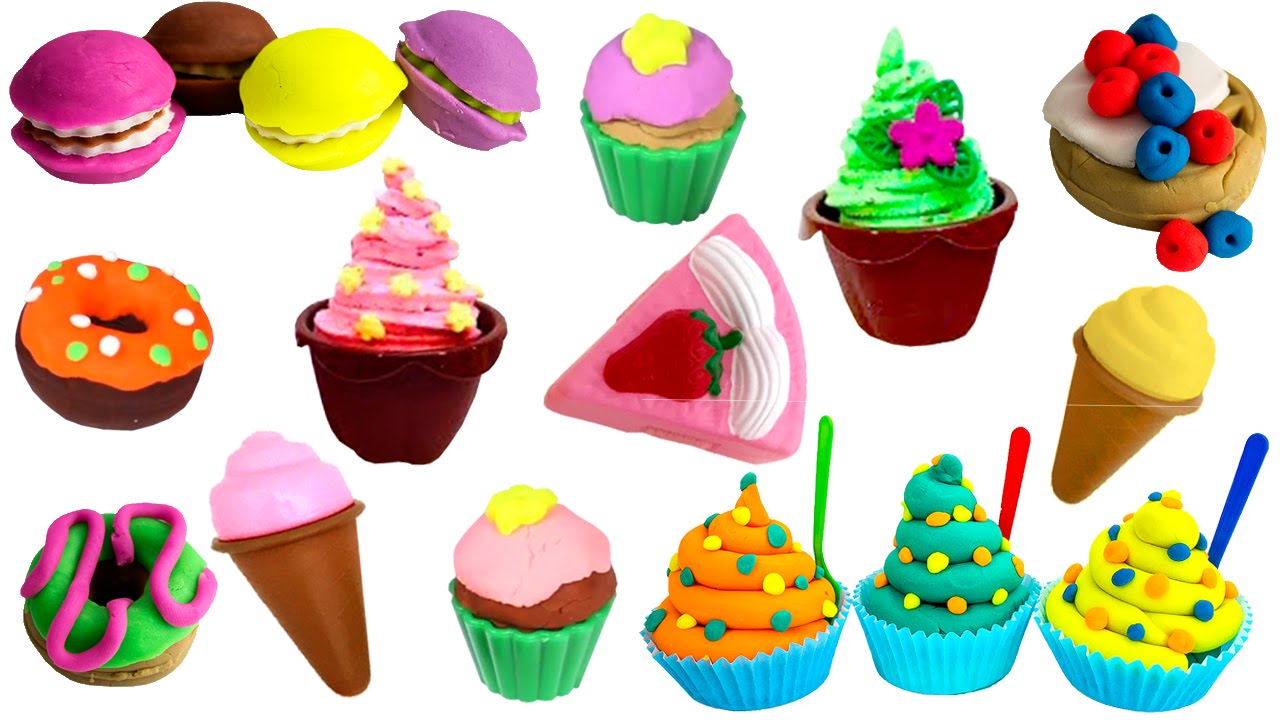 Toy Food Clip Art : Toy cutting food kitchen playset play cakes desserts