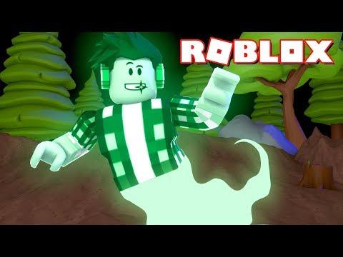 Roblox - VIREI UM FANTASMA VERDE !!