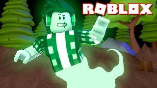 ROBLOX-I TURNED a GREEN GHOST!!