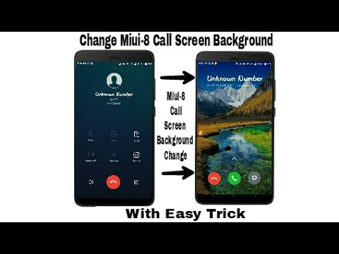 How to Change Miui-8 Call Screen Background With Easy Trick