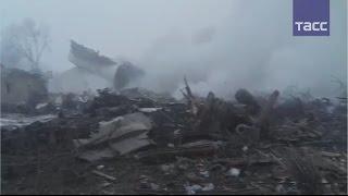 Видео с места крушения Boeing под Бишкеком