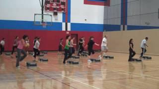 San Diego City College Step Aerobics Breakdown & Whole Routine.wmv