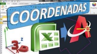 Pasar Coordenadas X Y Z de Excel a AutoCAD 3D con alturas o elevación
