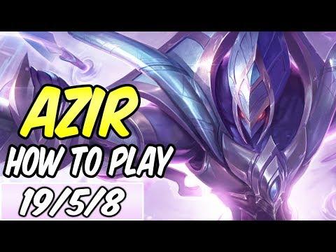 DIAMOND AZIR MID GUIDE | Build & Runes | League of Legends Gameplay | S9