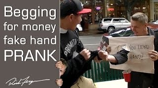 Homeless Scare Prank!! Punch THROUGH Sign Trick!