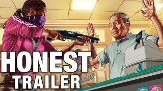 GRAND THEFT AUTO ONLINE (Honest Game Trailers)(, 2015-05-26T19:58:19.000Z)