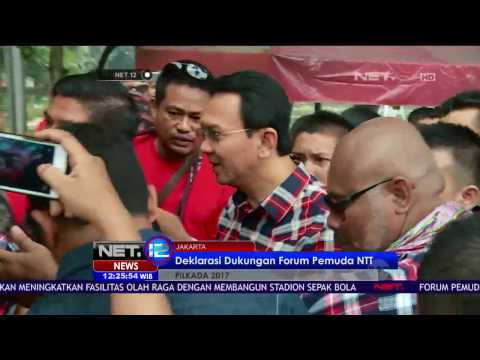 Ahok-Djarot Terima Dukungan Forum Pemuda NTT Di Jakarta - NET 12