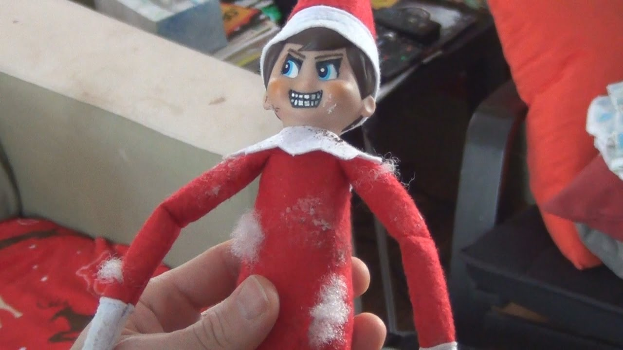 Christmas Elf On The Shelf Funny.Elf On The Shelf Is Naughty Bad And Scary Funny Christmas Video Short Film