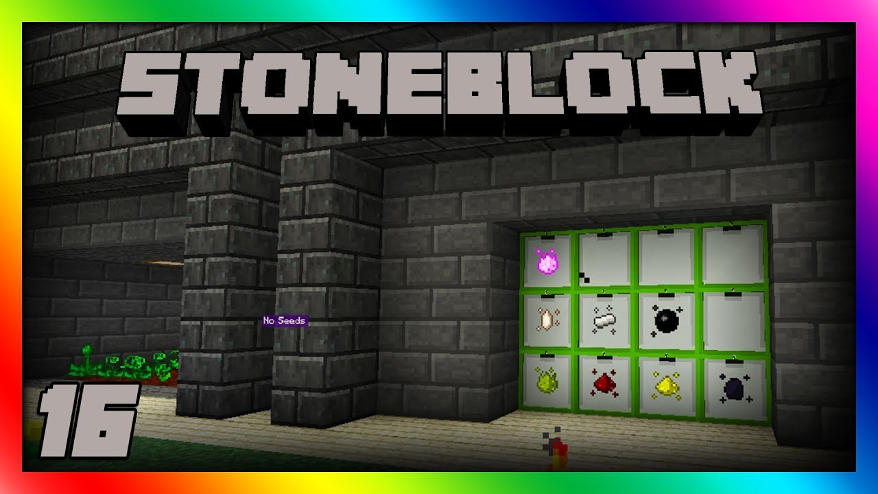 Stoneblock - Mystical Agriculture Automation!! Episode 16 [Modded Minecraft  1 12 2]