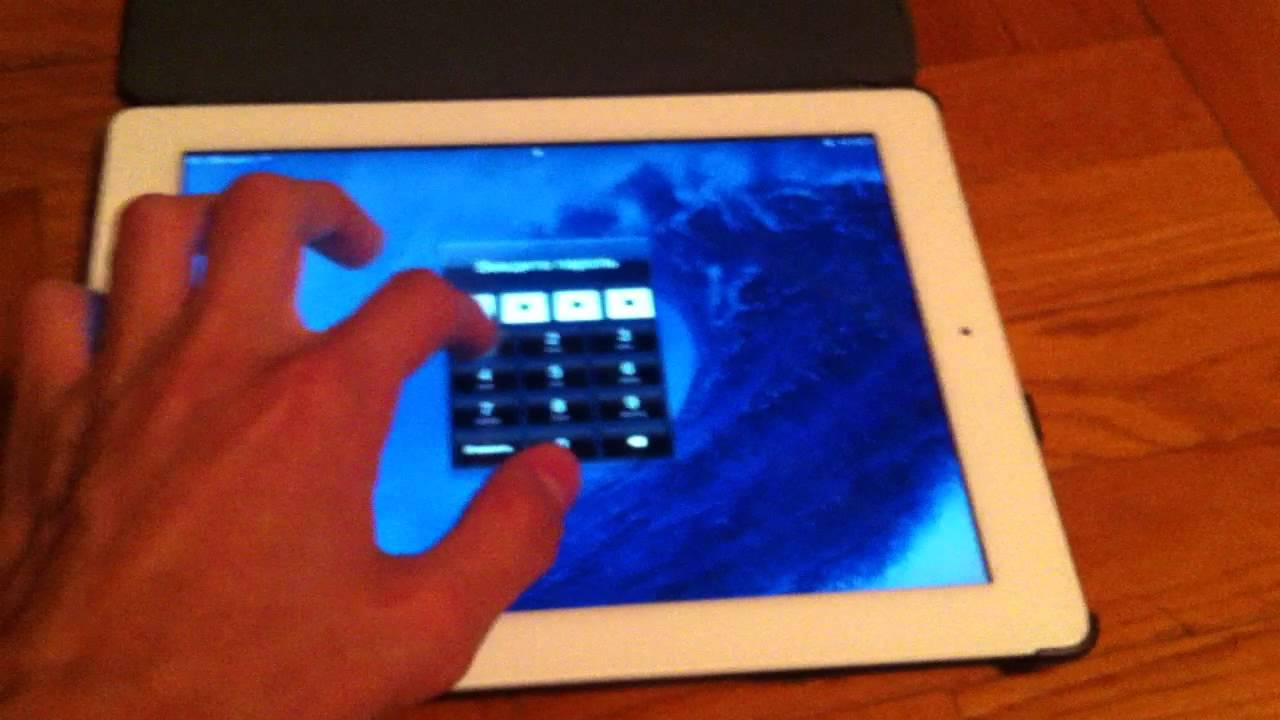 unlock an ipad with a passcode