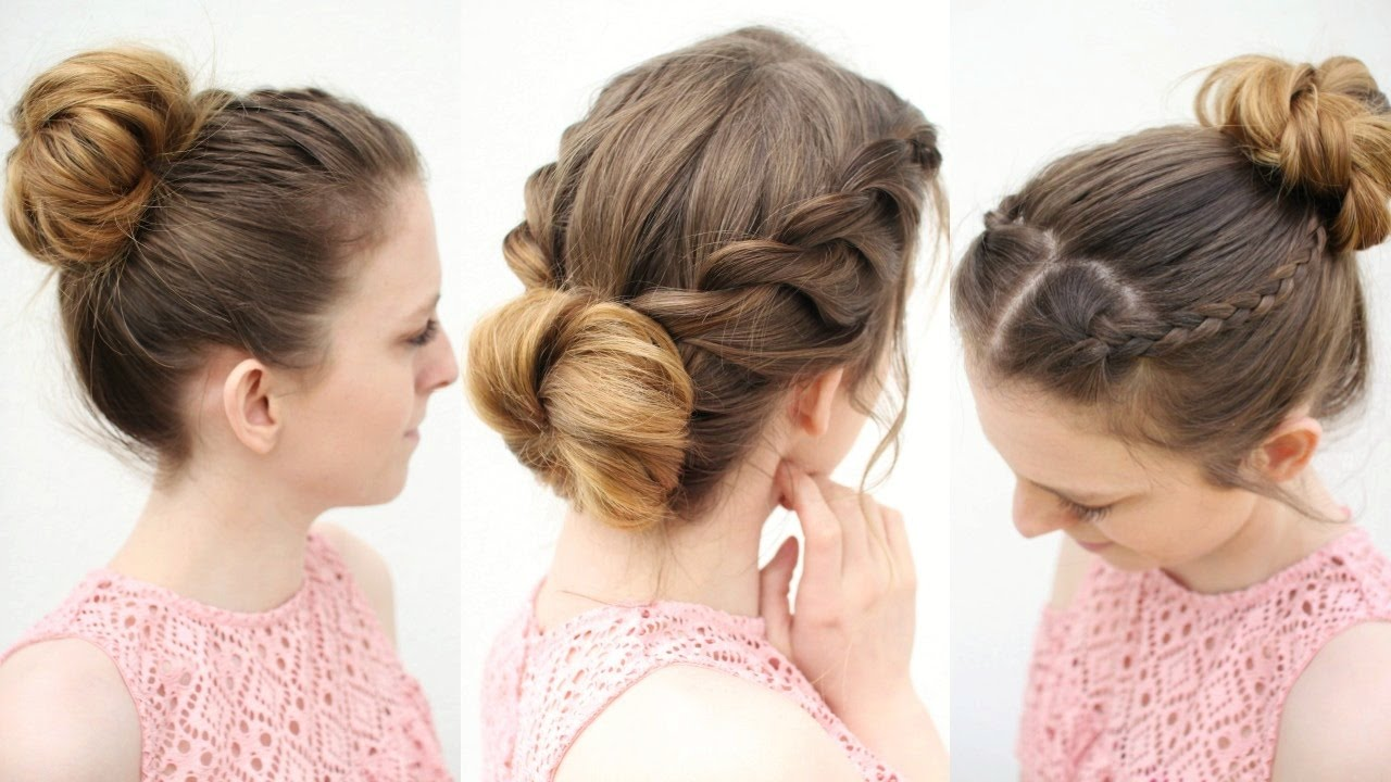 3 easy everyday bun hairstyles | work hairstyle ideas
