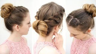 3 Easy Everyday Bun Hairstyles   Work Hairstyle ideas   Braidsandstyles12
