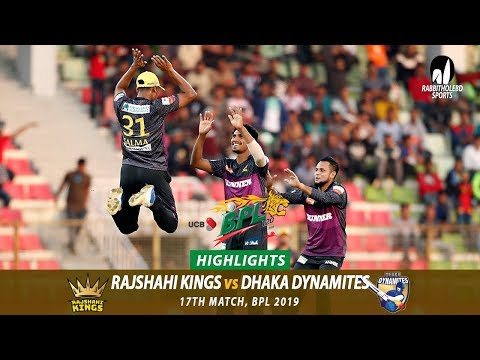 Dhaka Dynamites vs Rajshahi Kings Highlights || 17th Match || Edition 6 || BPL 2019