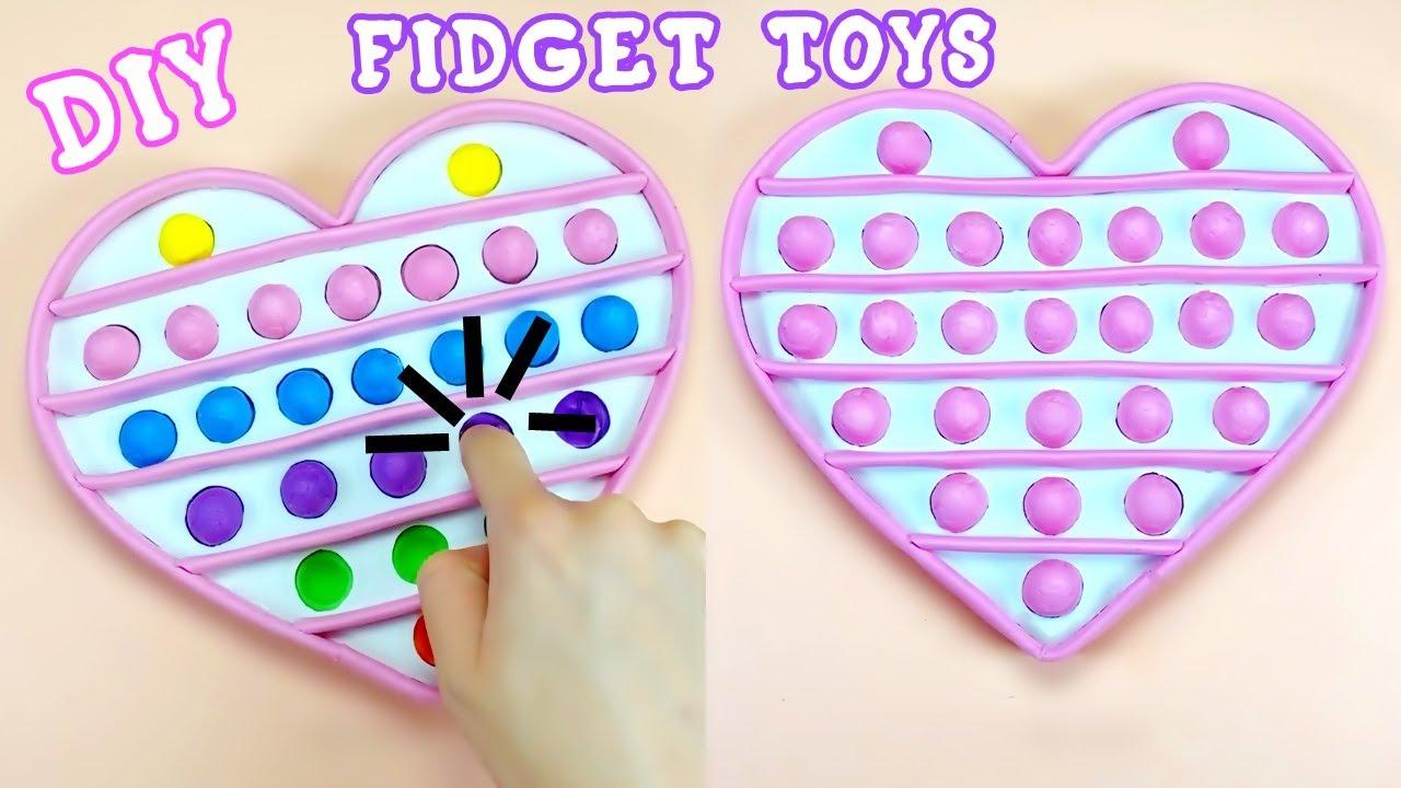 DIY HEART POP IT FIDGET TOYS - VIRAL TIKTOK REVERSIBLE FIDGET TOYS