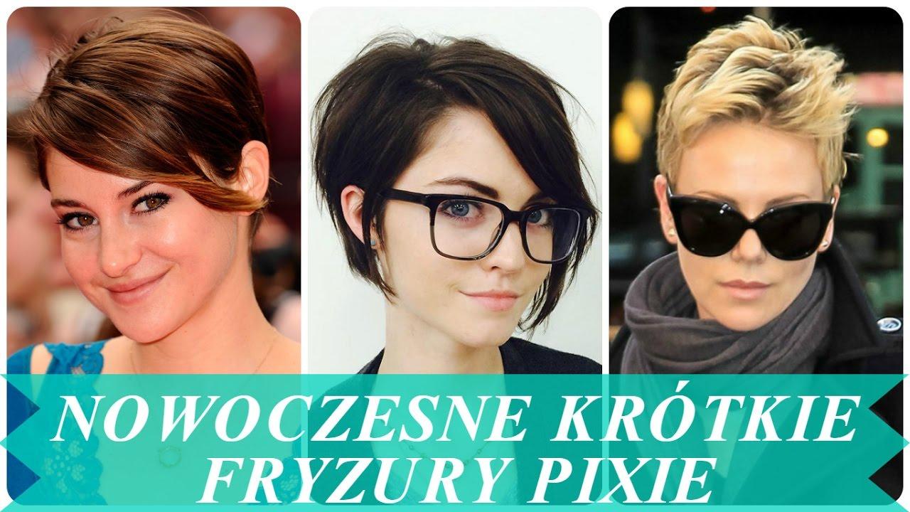 Nowoczesne Krótkie Fryzury Pixie Youtube