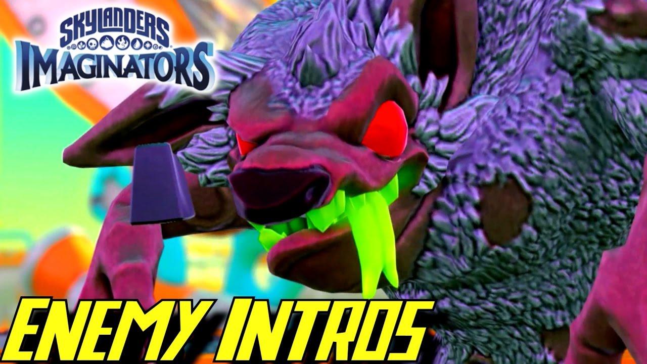 Skylanders Imaginators All Enemy Intro Cutscenes YouTube