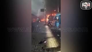 أهل مصر   شاهد لحظة اشتعال الحريق في قطار محطة مصر من الداخل... مشهد كارثي
