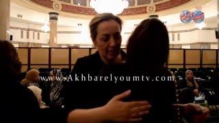 شيرين وجدى تتلقى عزاء والدها  لواء فاروق سالم بمسجد القوات المسلحة بالنزهه