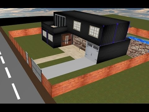 Shipping container house design project - YouTube