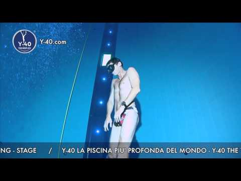 Y 40 the deep joy umberto pelizzari freediving stage for Piscine deep joy y 40