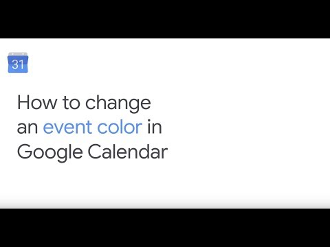 Change an event color in Google Calendar