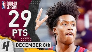 Collin Sexton Full Highlights Cavaliers vs Wizards 2018.12.08 - 29 Pts, 6 Ast, 3 Rebounds!
