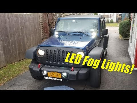 Xprite LED Jeep Wrangler Unlimited Fog Lights Install and Review on