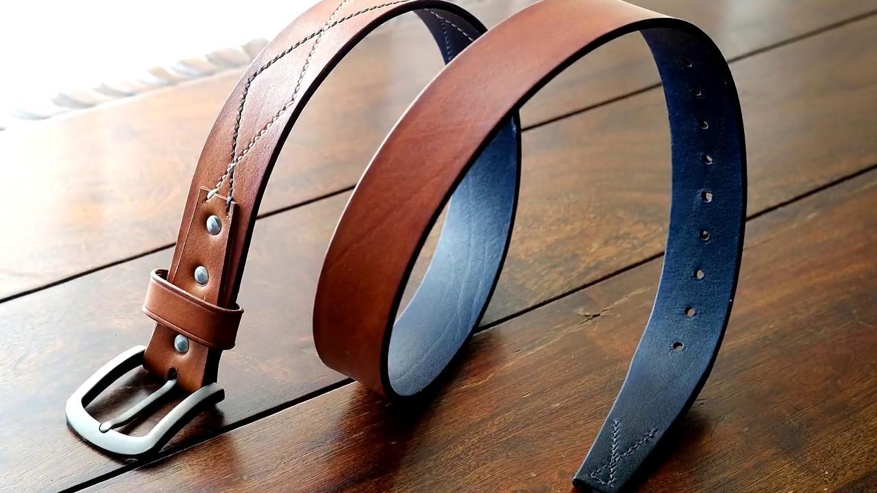 555f4fcd6d99 The Making of a Handmade Leather Belt - Πως φτιάχνεται μία χειροποίητη δερμάτινη  ζώνη