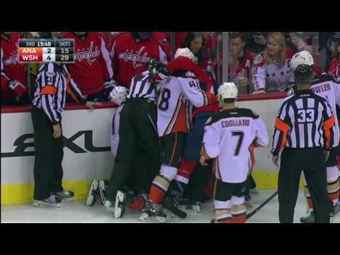 Ducks not happy with Wilson's questionable hit on Cogliano
