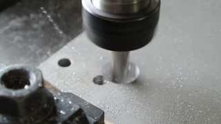 CNC ขุดรูอลูมิเนียม Pocket Cutting on Aluminium by SCR5040