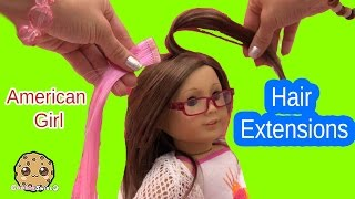 Bright Highlights Hair Extensions Clip In Set Styled on American Girl + My Life As Doll Video