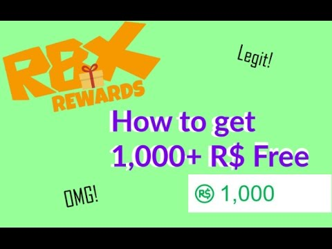 RBX Rewards - How To Earn 1,000+ Robux Free (Legit + No ...