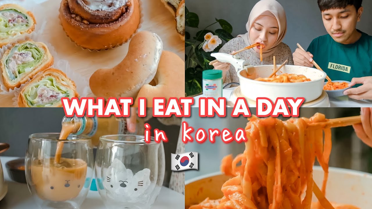 WHAT I EAT IN A DAY 🇰🇷 LIFE IN KOREA: GROCERY SHOPPING, COOKING VLOG 🍝 DAILY VLOG 🇰🇷