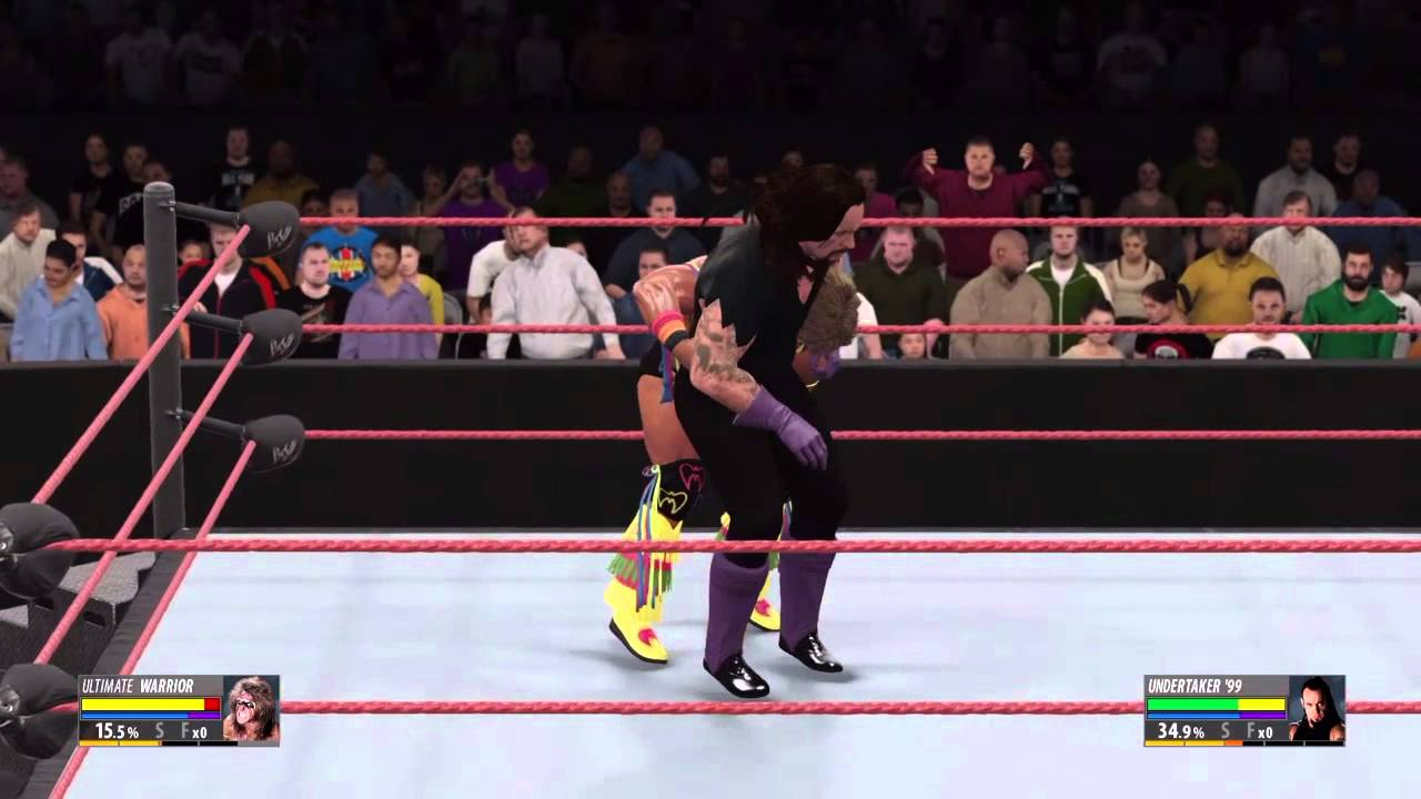 WWE 2k16 - Ultimate Warrior vs. Undertaker - YouTube