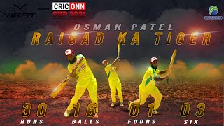 Usman Patel Batting || CRICONN CUP 2021