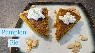 Making Pumpkin Pie From Real Pumpkin