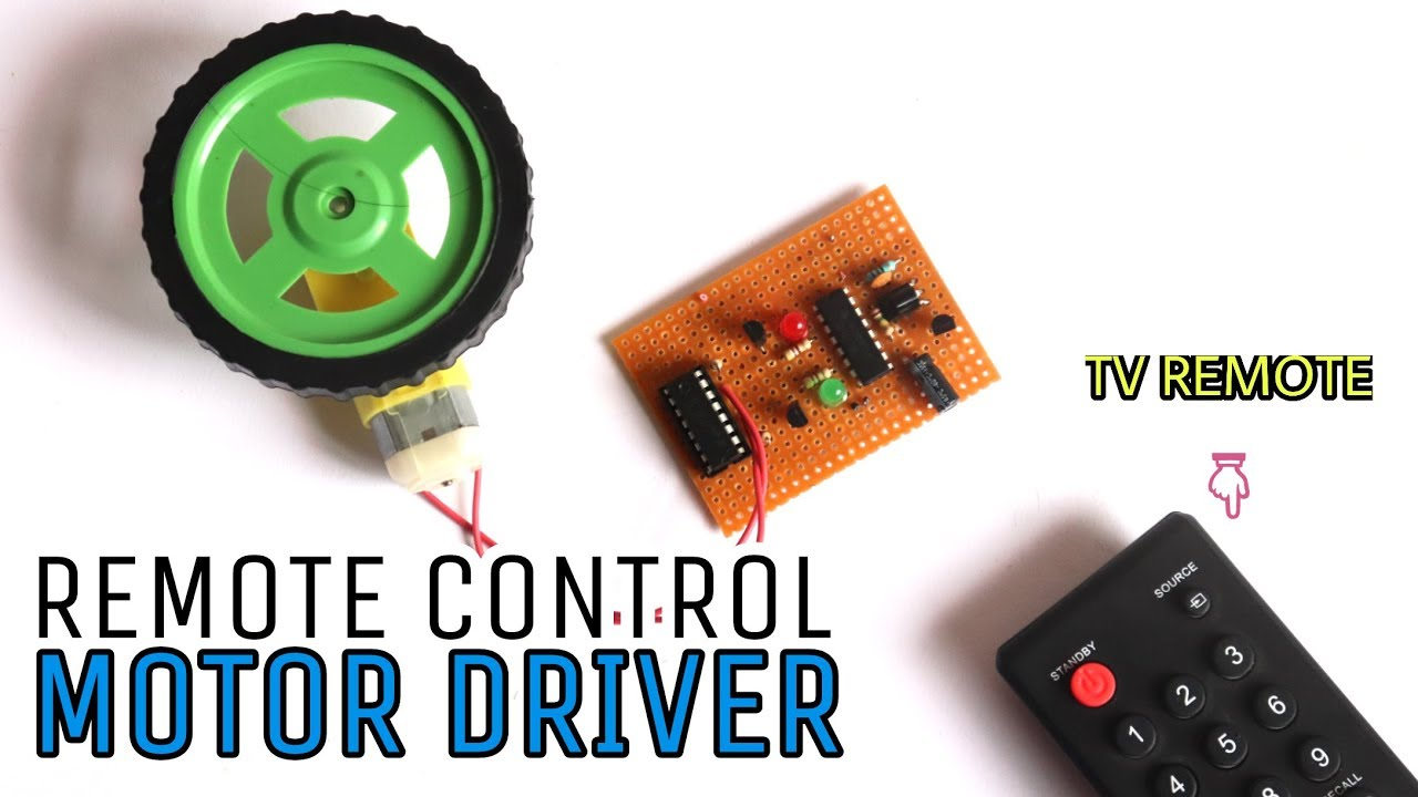 Remote Control Motor Driver Circuit Using 4017 Ic