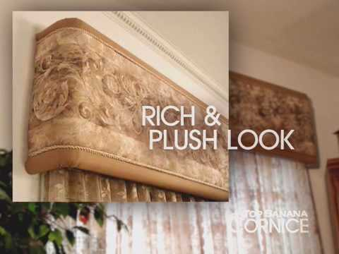 Window Coverings Ideas: Top Banana Cornice - How To Make A C