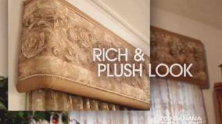 Window Coverings Ideas: Top Banana Cornice - How To Make A Cornice Valance