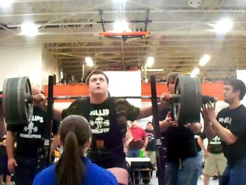 14 year old freshman squats 610