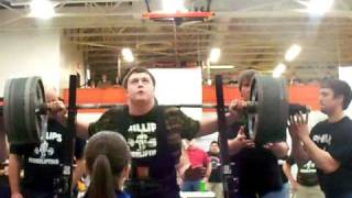 14 year old freshman squats 610